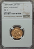 German States:Hesse  - Darmstadt, German States: Hesse-Darmstadt. Ludwig IV gold 10 Mark 1879-H XF45NGC,...