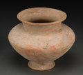 Judaica:Archaeology, CANAANITE. Middle Bronze Age, circa 2000-1750 BCE. Terracotta vase....