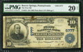 National Bank Notes:Pennsylvania, Beaver Springs, PA - $10 1902 Plain Back Fr. 633 The First NB ofBeaver Springs Ch. # 5777. ...