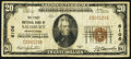 National Bank Notes:Pennsylvania, Salisbury, PA - $20 1929 Ty. 1 The First NB Ch. # 6106. ...