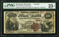 National Bank Notes:Wisconsin, Waukesha, WI - $10 1882 Brown Back Fr. 490 The National Exchange Bank Ch. # (M)2647. ...
