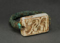 Judaica:Archaeology, EGYPTO-CANAANITE. New Kingdom, time of Seti I (circa 1294-1279BCE). Bi-faceted bronze seal ring....