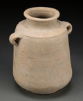 Judaica:Archaeology, JUDAEA. Hasmonean period, circa 300-100 BCE. Wide-mouthed potterystorage vessel....