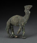 Judaica:Archaeology, NABATAEAN KINGDOM. Circa 2nd-1st century BCE. Cast copper camel....