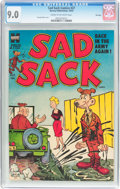 Golden Age (1938-1955):Humor, Sad Sack Comics #27 File Copy (Harvey, 1953) CGC VF/NM 9.0 Cream to off-white pages....