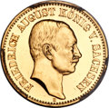 German States, German States: Saxony. Friedrich August III gold Proof 20 Mark1905-E PR63 Cameo PCGS,...