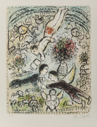 Marc Chagall (French/Russian, 1887-1985) Le Ciel, 1984 Lithograph in colors 24 x 18-1/2 inches (6