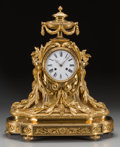 Clocks & Mechanical:Clocks, A French Louis XV-Style Gilt Bronze Mantel Clock with Movement by Raingo Freres, circa 1860, Paris France. Marks to movement...