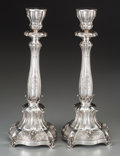 Silver Holloware, Continental:Holloware, A Pair of Hazorfim Weighted Silver Candlesticks, Tel Aviv, Israel,late 20th century. Marks to base: HAZORFIM, 925, (loz...(Total: 2 Items)