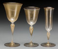 Art Glass:Other , A Twenty-Eight Piece Murano Glass Stemware Group, 20th century.8-5/8 inches (highest, water glasses) (21.9 cm). The lot c...(Total: 28 Items)