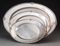 Silver Holloware, American:Trays, A Group of Three Towle Graduated Silver Platters, Newburyport, Massachusetts, circa 1950. Marks: (lion-T), STERLING. 18-... (Total: 3 Items)