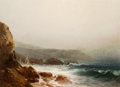 Fine Art - Painting, American:Antique  (Pre 1900), William M. Hart (American, 1823-1894). Connecticut Coast.Oil on board. 6-1/4 x 8-3/8 inches (15.9 x 21.3 cm). Signed lo...