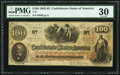 "Confederate Notes:1862 Issues, Manuscript Endorsement ""R.P. Howell"" T41 $100 1862 PF-20 Cr. 316A....."