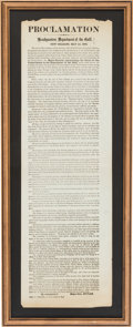 Miscellaneous:Broadside, [Benjamin Butler]: Occupation of New Orleans Broadside....