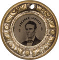 "Political:Ferrotypes / Photo Badges (pre-1896), Abraham Lincoln: Very Choice Lincoln/Hamlin 1860 ""Doughnut Frame""Campaign Ferrotype...."