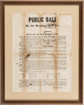 Miscellaneous:Broadside, African Americana: Slave Broadside....