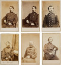 Photography:CDVs, Union Cartes-de-Visite: Charles G. Harker, Alexander Hays, Winfield Scott Hancock, William Hays and Herman Haupt.... (Total: 6 Items)