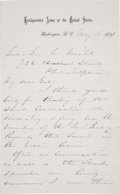 Autographs:Military Figures, William Tecumseh Sherman: Autograph Letter Signed with OutstandingContent....