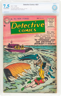Detective Comics #221 (DC, 1955) CBCS VF- 7.5 Off-white to white pages