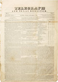 Books:Periodicals, 1836 Telegraph and Texas Register, Vol 1, No. 28,...