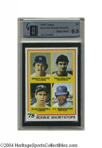 1978 Topps Rookie Shortstops GAI Gem Mint 9.5 The best Paul Molitor rookie card on earth? It very well could be. Four pe...