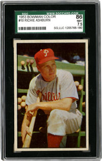 1953 Bowman Color Richie Ashburn #10 SGC NM+ 86. SGC has only graded five Ashburns higher from this beautiful '53 Bowman...