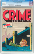 Golden Age (1938-1955):Crime, Crime Does Not Pay #39 (Lev Gleason, 1945) CGC VF+ 8.5 Off-white to white pages....