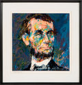 Antiques:Decorative Americana, Abraham Lincoln: Signed Leroy Neiman Seriagraph....