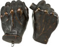 "Antiques:Decorative Americana, Abraham Lincoln: ""Life"" Castings of Hands.... (Total: 2 Items)"