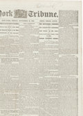 Miscellaneous:Newspaper, Abraham Lincoln: First Appearance of the Gettysburg Address inNewspaper Format....