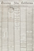 Political:Memorial (1800-present), Abraham Lincoln: Early California Newspaper Account of the Assassination....