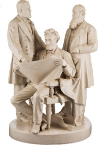 """Abraham Lincoln: """"Council of War"""" John Rogers Group"""