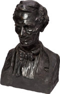Antiques:Decorative Americana, Abraham Lincoln: Large Bust by Peter David Edstrom....