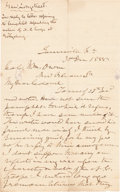 Autographs:Military Figures, James Longstreet: Gettysburg-Related Autograph Letter Signed....