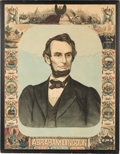 Political:Memorial (1800-present), Abraham Lincoln: Large Mourning Broadside Chart....