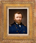 Political:3D & Other Display (pre-1896), Ulysses S. Grant: Exquisite Painting on Porcelain....