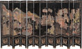 Asian:Chinese, A Large Chinese Twelve-Panel Lacquered Screen. 96-1/2 h x 222 winches (245.1 x 563.9 cm). ... (Total: 3 Items)