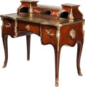 Furniture : French, A Louis XV-Style Mahogany and Gilt Bronze Writing Desk, 19thcentury. 38 h x 43 w x 23 d inches (96.5 x 109.2 x 58.4 cm). ...