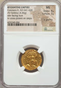 Ancients:Byzantine, Ancients: Constans II (AD 641-668). AV solidus (4.46 gm). ...