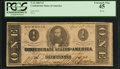 Confederate Notes:1863 Issues, T62 $1 1863 PF-24 Cr. UNL.. ...