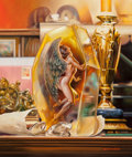 Pulp, Pulp-like, Digests, and Paperback Art, Boris Vallejo (American, b. 1941). Amber, Boris Chrome Seriescard illustration, 1994. Oil on board. 19.75 x 16.5 in. (s...