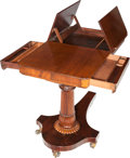 Furniture , A Regency-Style Mahogany Telescopic Lady's Writing Table, circa 1860. 47-1/4 h x 32-1/2 w x 19 d inches (120.0 x 82.6 x 48.3...