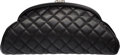"Luxury Accessories:Bags, Chanel Black Quilted Lambskin Leather Timeless Clutch Bag withSilver Hardware. Very Good to Excellent Condition. 11""..."