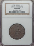 1788 1C Massachusetts Cent, Period, VF25 NGC. NGC Census: (21/137). PCGS Population (42/271)....(PCGS# 311)