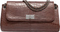 "Luxury Accessories:Bags, Chanel Matte Brown Crocodile Reissue Shoulder Bag with SilverHardware. Excellent Condition. 10.5"" Width x 5.5""Height..."