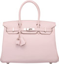 Luxury Accessories:Bags, Hermes 30cm Rose Dragee Swift Leather Birkin Bag with Palladium Hardware. K Square, 2007. Very Good to Excellent Condition...