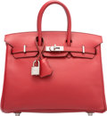 Luxury Accessories:Bags, Hermes 25cm Rouge Garance Epsom Leather Birkin Bag with PalladiumHardware. L Square, 2008. Very Good to Excellent Conditi...