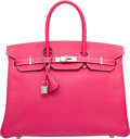 """Luxury Accessories:Bags, Hermes 35cm Rose Tyrien Epsom Leather Birkin Bag with PalladiumHardware. Q Square, 2013. Excellent Condition.14""""..."""