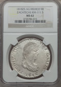 Mexico:Zacatecas, Mexico: Zacatecas. War of Independence - Ferdinand VII 8 Reales1818-AG MS62 NGC,...
