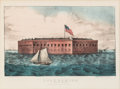 Antiques:Posters & Prints, Fort Sumter: Currier & Ives Print....